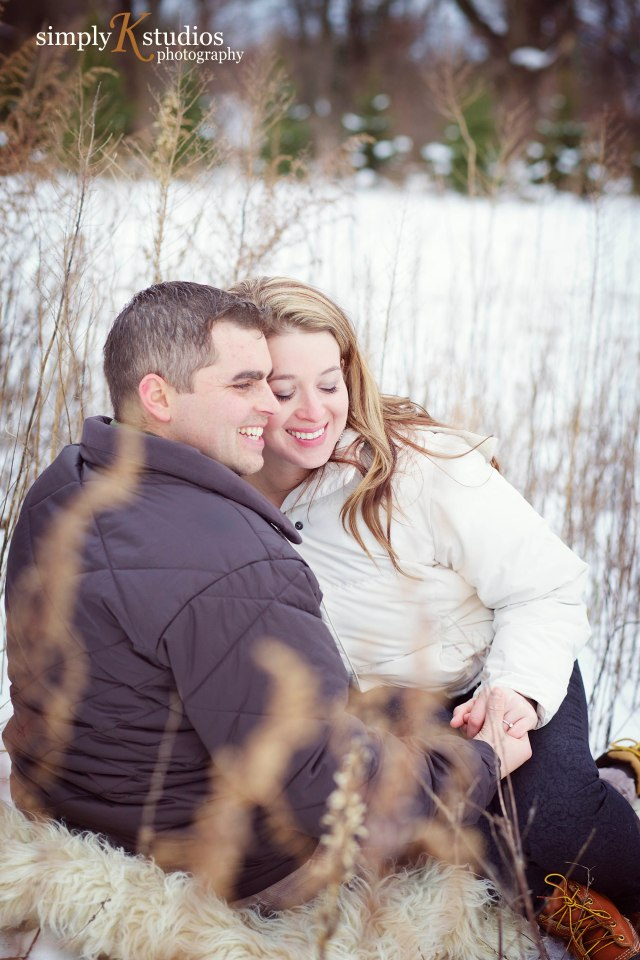 Snowy Engagement Session in CT