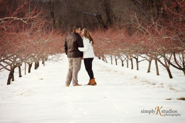Winter Engagement Photos in CT